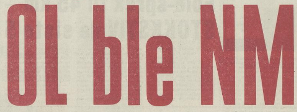 """Overskrift fra Arbeiderbladet 6.2.1964: """"OL ble NM"""""""