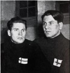 Bilde av Kalevi Laitinen og Lassi Parkkinen, to av de finske OL-deltakerne i 1952.