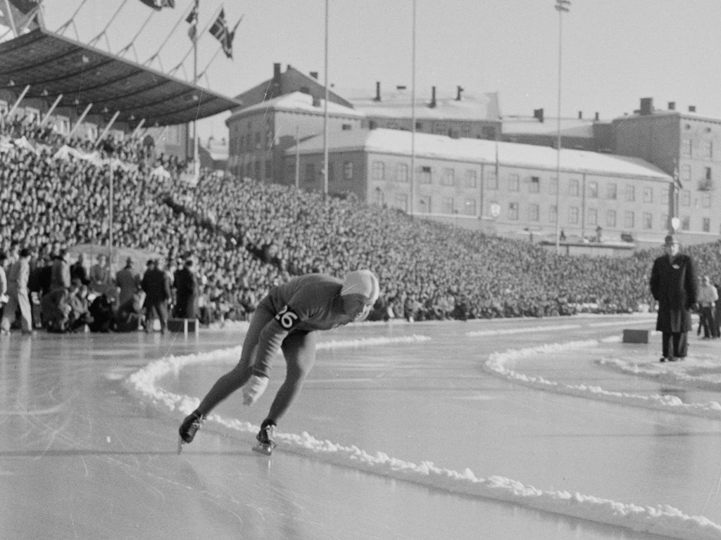 Bilde av Toivo Salonen under VM på Bislett i 1956.