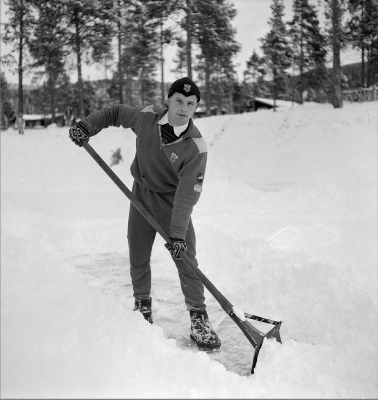 Bilde av Johhny Cronshey, tatt på Dombås i november 1951.