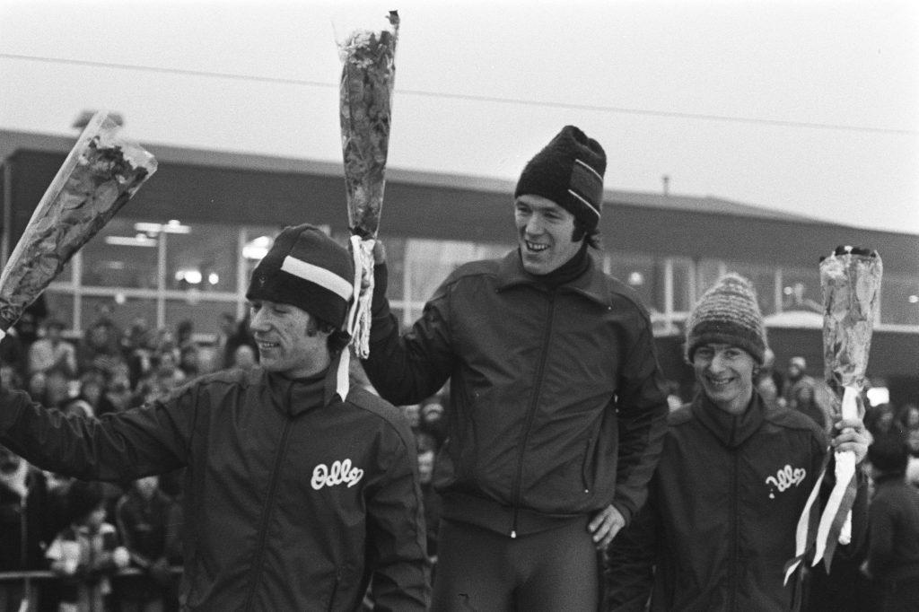 Bilde av Jan Egil Storholt, Kay Arne Stenshjemmet og Amund Sjøbrend på seierspallen.