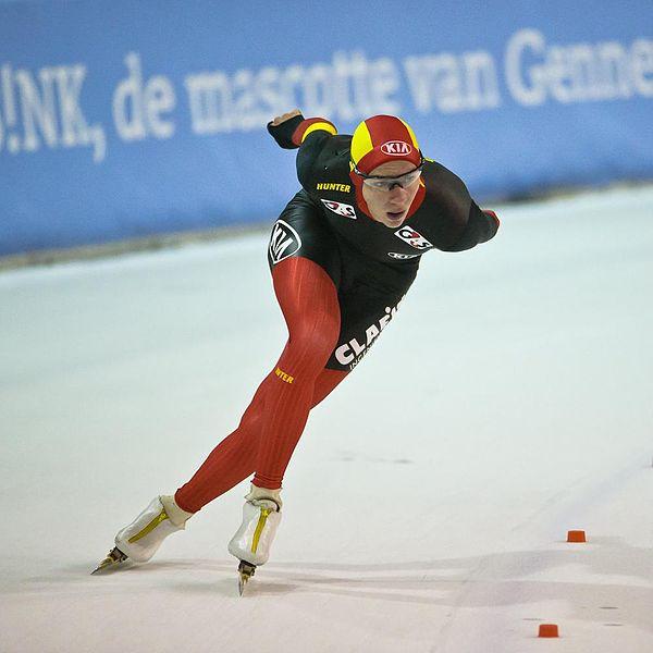 Den belgiske skøyteløperen Bart Swings. (Kilde: Wikimedia Commons)