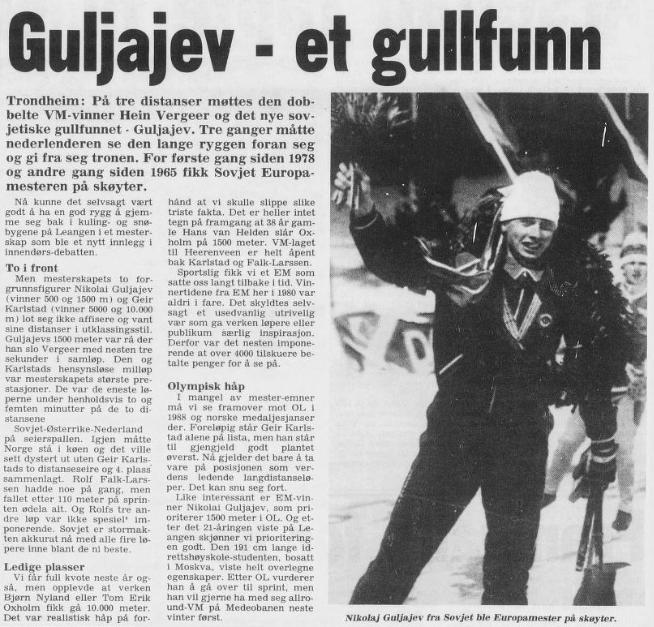 Faksimile Arbeiderbladet 26.1.1987