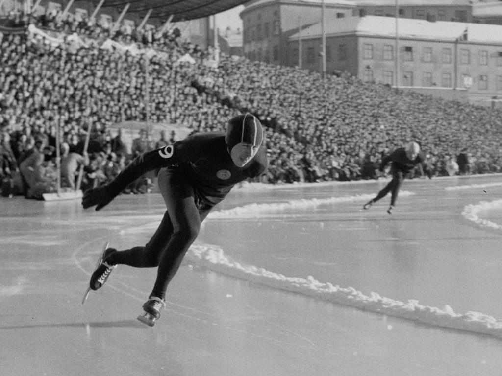 Bilde av den sovjetiske skøyteløperen Boris Sjilkov.