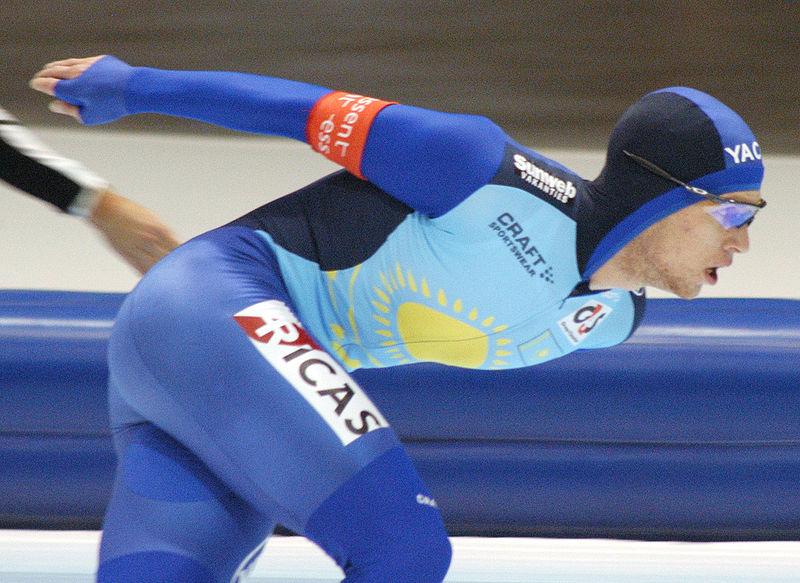 Den kazakhstanske skøyteløperen Dmitrij Babenko.