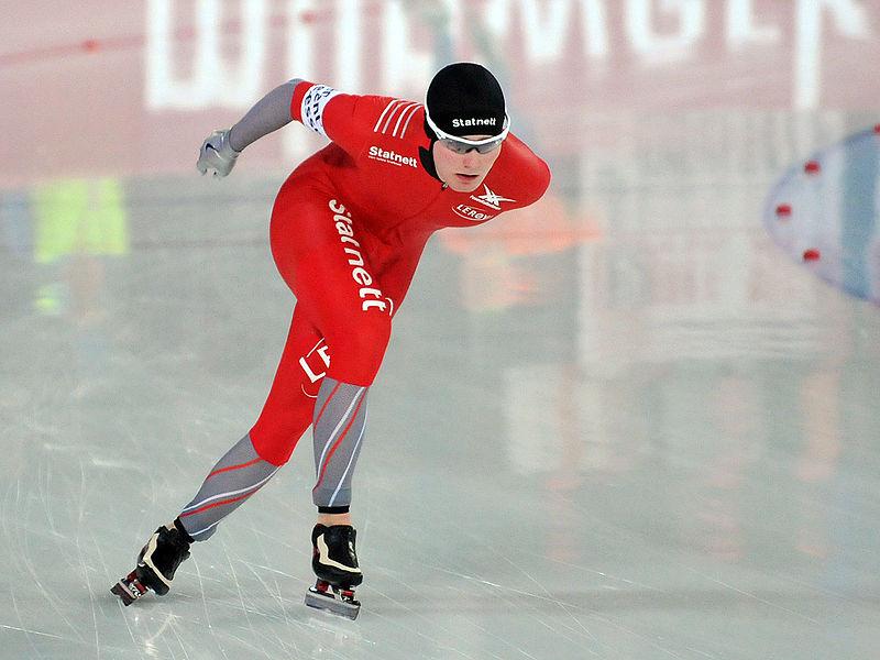 Bilde av den norske skøyteløperen Sverre Lunde Pedersen.