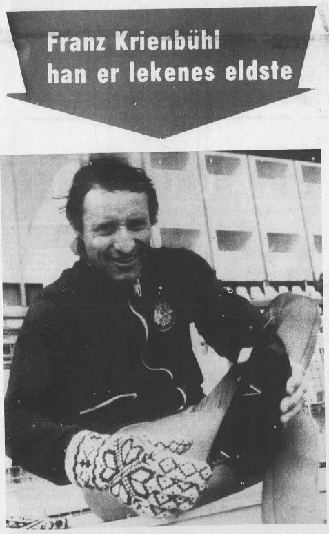 Faksimile Rogalands Avis 11.2.1976. Bilde av Franz Krienbühl.