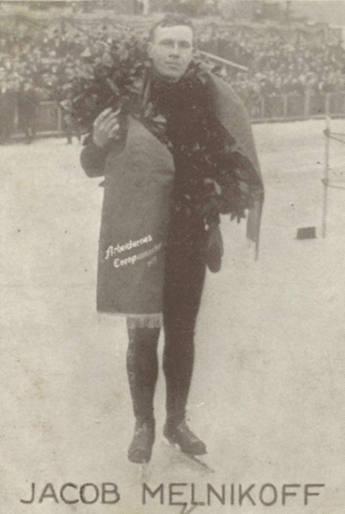 Bilde av den sovjetiske skøyteløperen Jakov Melnikov.