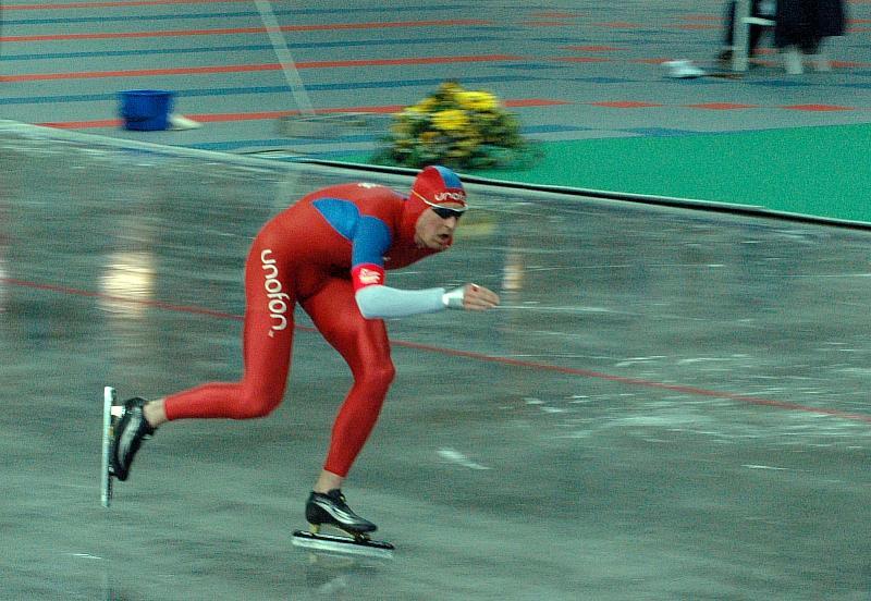 Bilde av skøyteløperen Øystein Grødum