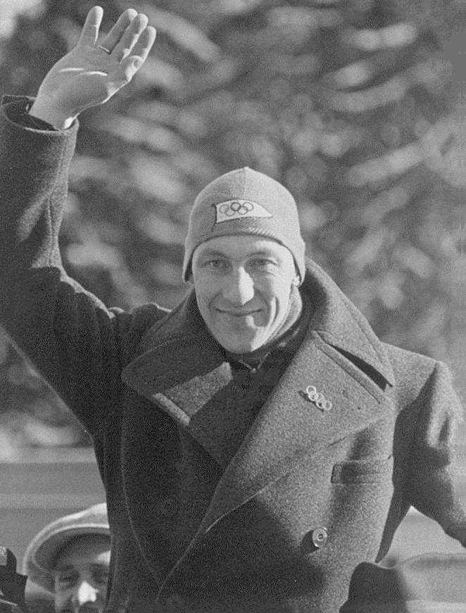 Bilde av skøyteløperen Ivar Ballangrud