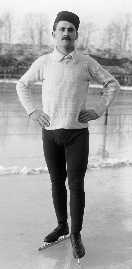 Bilde av skøyteløperen Oscar Mathisen