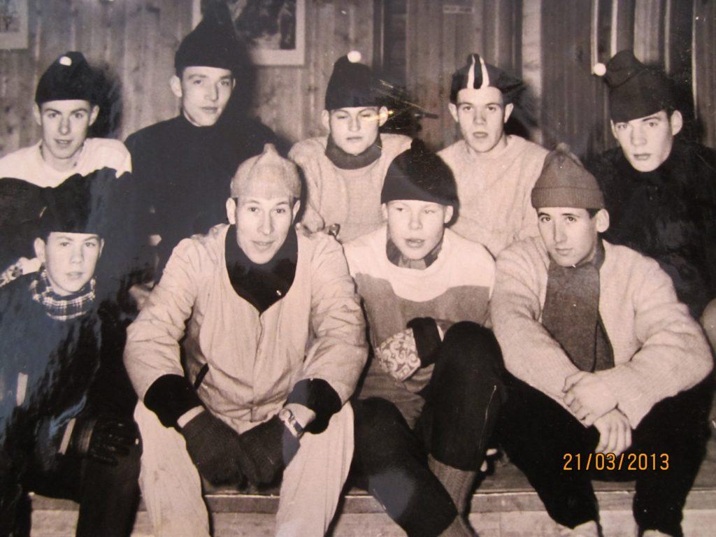 Bilde fra skøytemiljøet på Lillehammer i 1959.