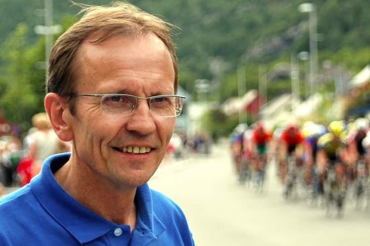 Bilde av sykkelpresident Erik M. Aarethun (Sogn Avis)