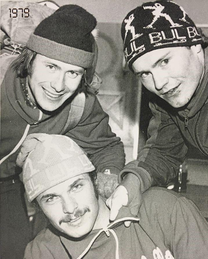 Bilde av skøyteløperne Asle Terje Johansen, Jarle Pedersen og Frode Rønning.