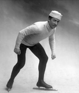 Bilde av skøyteløperen Rudolf Gundersen