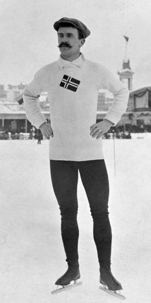 Bilde av den norske skøyteløperen Sigurd Mathisen.