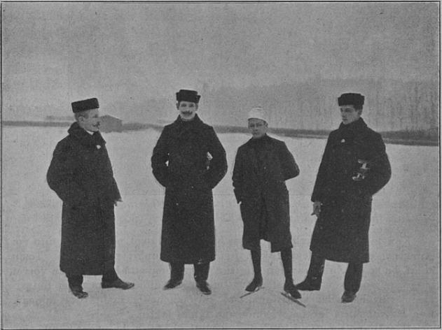 Bilde av det finske laget til pokalkampen i 1903.
