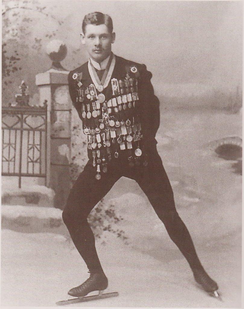 Portrett av den finske skøyteløperen Franz Frederik Wathén.
