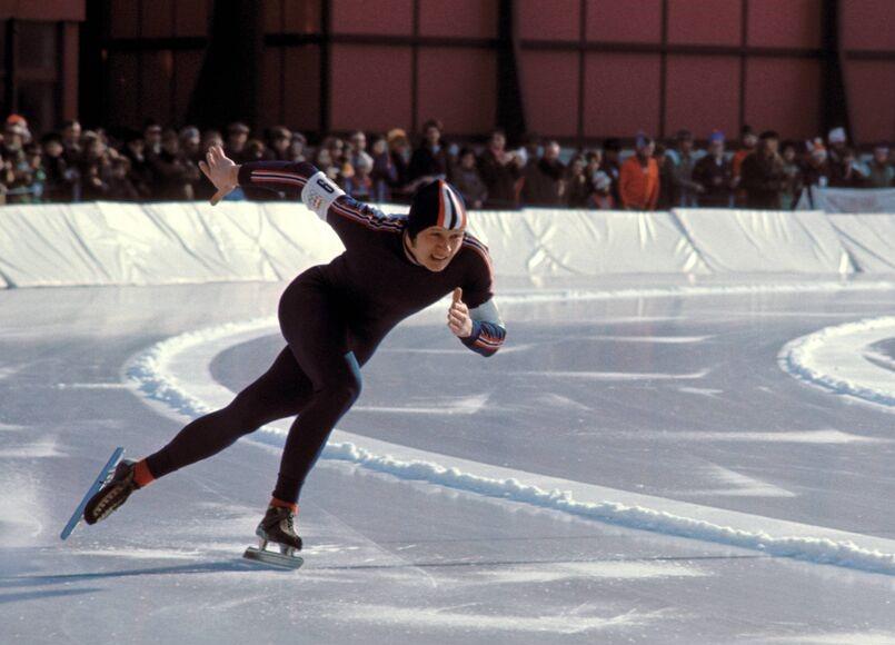 Bilde av skøyteløperen Jevgenij Kulikov, Innsbruck 1976