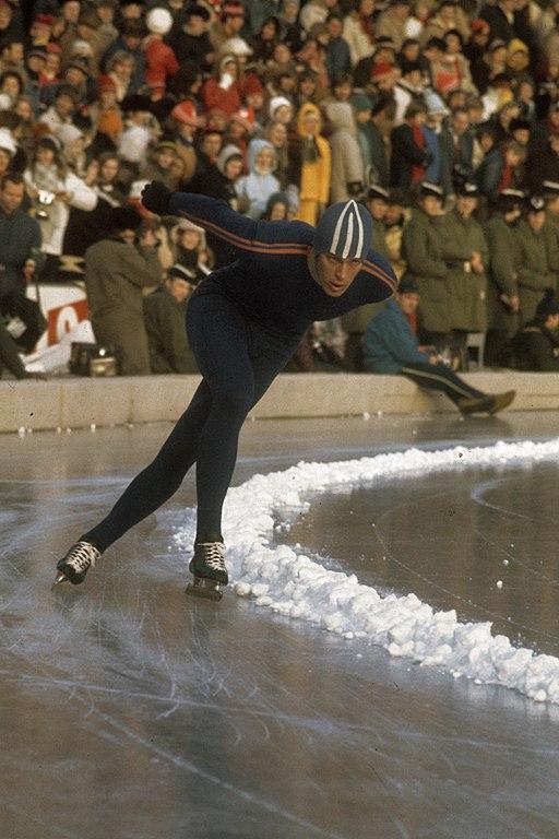 Bilde av Ard Schenk under VM på Bislett i 1972.